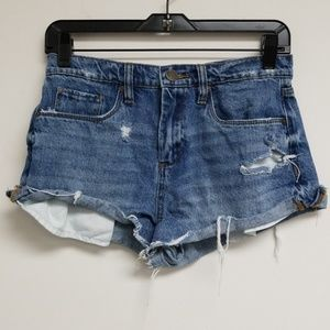 Blank NYC Blue Pin Up High Rise Jean Shorts 26